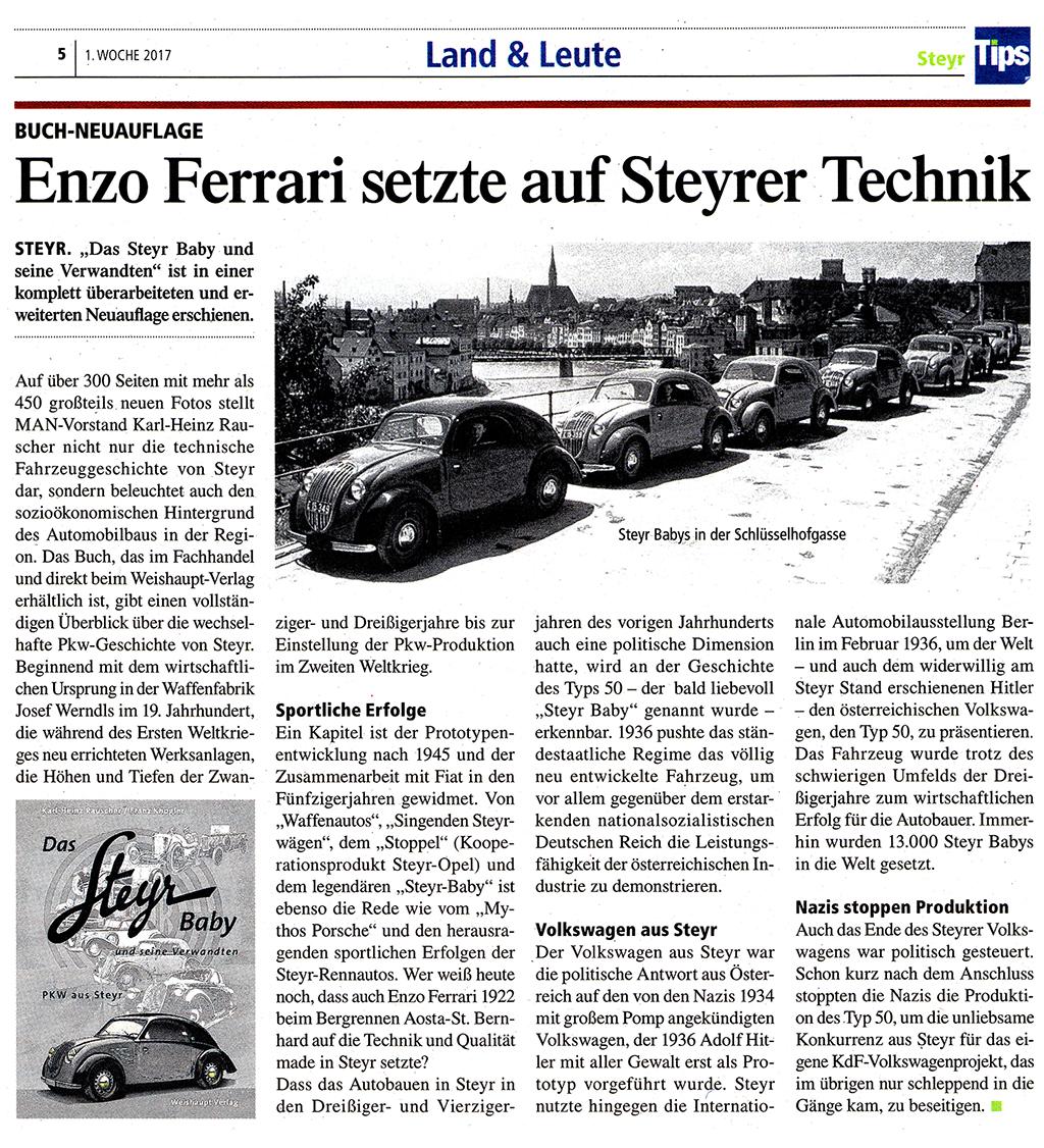Neuauflage: Das Steyr-Baby und seine Verwandten