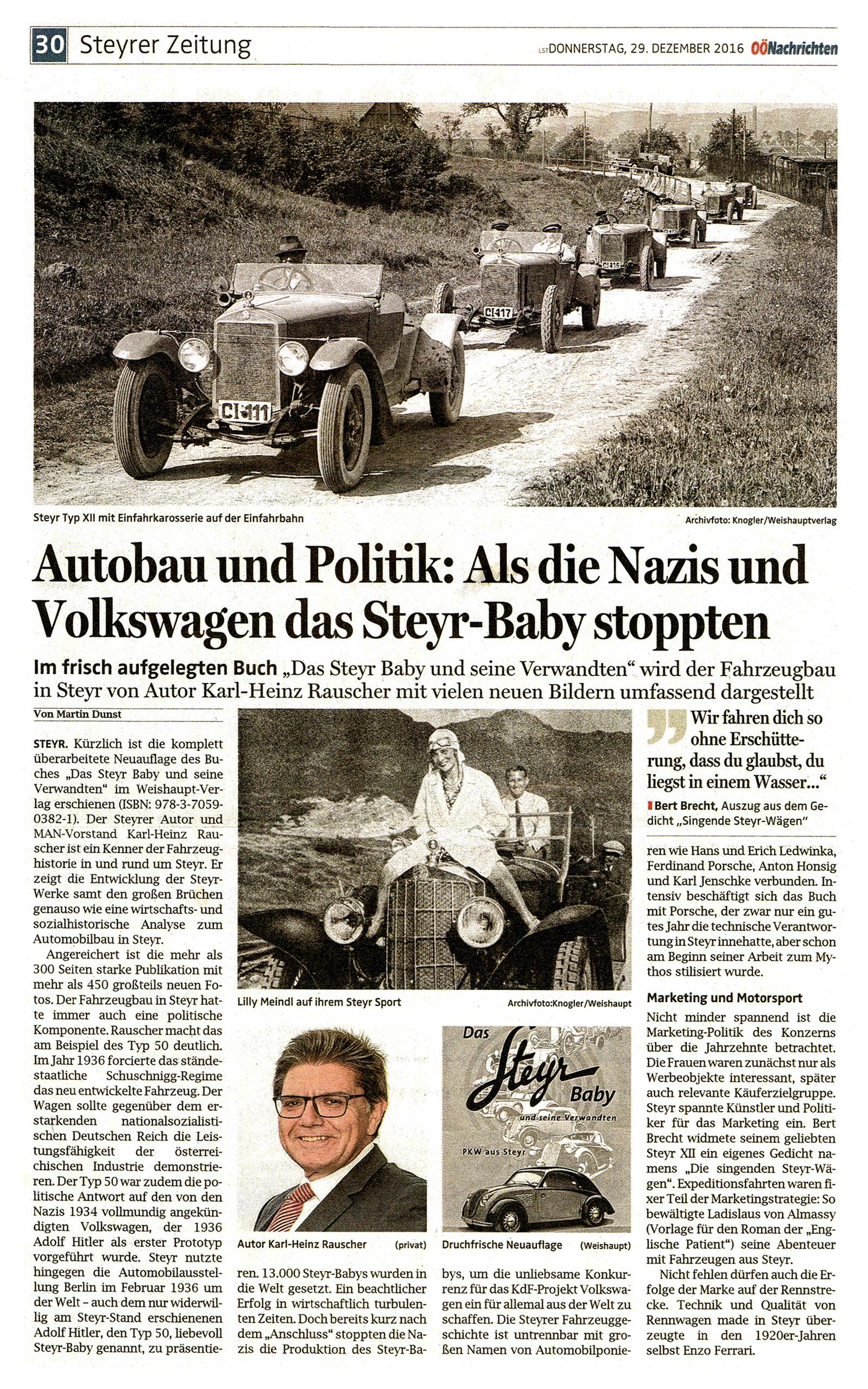 Das Steyr-Baby und seine Verwandten, OÖ-Nachrichten